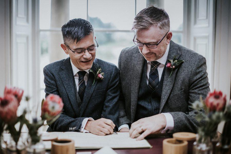 Wedding photograph for Richard & Francois