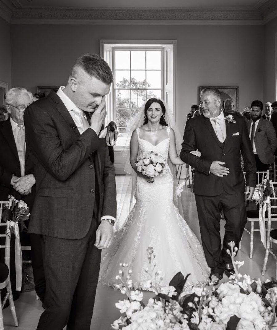 Wedding photograph for Bethany & Mark